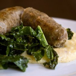 Polenta With Sausage and Greens recipe