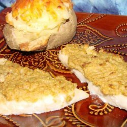 Broiled Sole With Parmesan-Olive Topping recipe