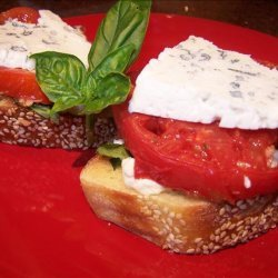Smoked Tomato Sandwiches With Goat Cheese and Basil recipe