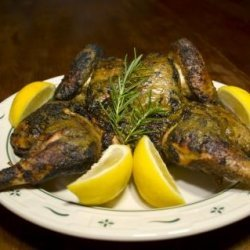 Spatchcocked Chicken With Walnut-Dill Pesto recipe