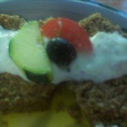 Greek Gyro Meatloaf With Cucumber Yogurt Sauce recipe
