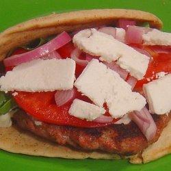 Greek Burger With Arugula and Feta recipe