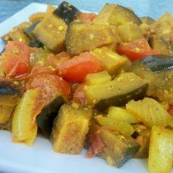 Spicy Eggplant With Tomatoes recipe