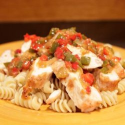 Baked Chicken in Red Pepper Sauce recipe