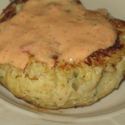 Crab Cakes With Roasted Pepper Remoulade Sauce recipe