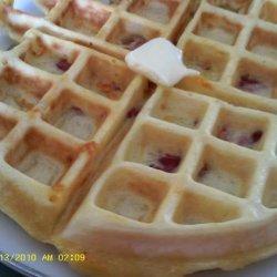 Ham and Cheese Waffles recipe