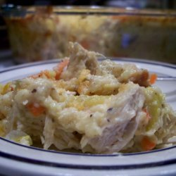 Paula Deen's Chicken, Squash & Cornbread Casserole recipe