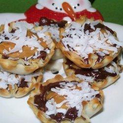 Chocolate Caramel Coconut Tarts recipe