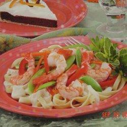 Shrimp & Veggie Alfredo recipe