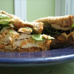Chicken Sandwiches With Carrot-Ginger Slaw recipe