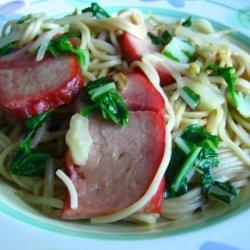 BBQ  Pork Lo Mein recipe