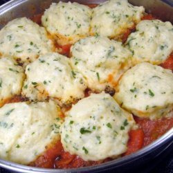 Stewed Tomatoes and Dumplings recipe