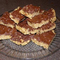 Peanut Butter Rice Krispy Treats With Chocolate Frosting recipe