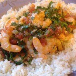 Quick Tomato Shrimp Stew Florentine recipe
