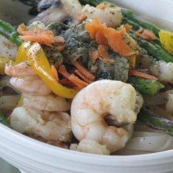 Grilled Shrimp and Noodle Salad recipe