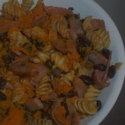 Black Bean Butternut Squash and Ham Pasta - Gluten / Lactose Fre recipe