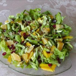 Bibb Greens Topped With Orange, Dried Cranberries and Sunflower recipe