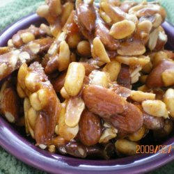 Hot and Sweet Nut Brittle recipe