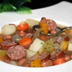Bean Soup With Sausage and More - Southwest Flavors - Nutritious recipe