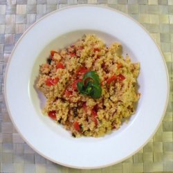 Roasted Garlic Couscous With Tomatoes & Basil recipe