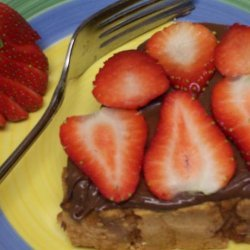 Pound Cake Slices With Nutella and Fresh Strawberries recipe