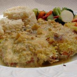 Wasabi Crusted Salmon With Orange Ginger Sauce recipe