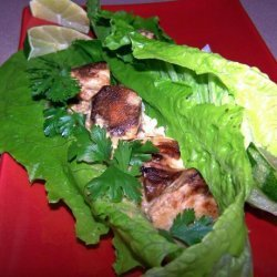 Ginger Chicken and Peanut Sauce Wraps recipe