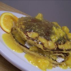 Orange Pancakes With Orange Sauce recipe