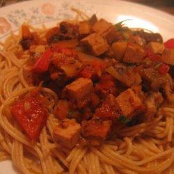Spaghetti With Vegetarian Bolognaise Sauce recipe