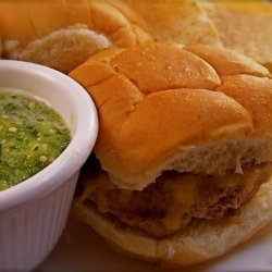 Green Chile Sliders With Tomatillo Lime Sauce recipe