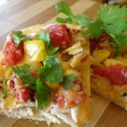Mexican Chicken Pizza With Cornmeal Crust recipe