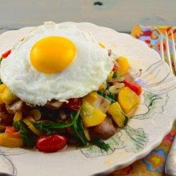 Paleo Breakfast Veggie Hash With Eggs recipe