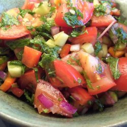Tomato and Mint Salad With Pomegranate Dressing recipe