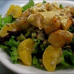 Chicken, Tangerine, Apple and Celery Salad With Yoghurt Dressing recipe