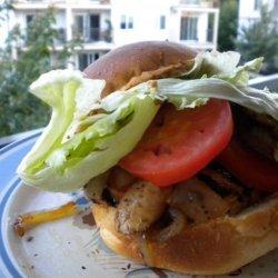 Healthy Grilled Chicken Burger Lazy Darren recipe