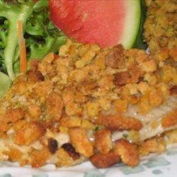 Crunchy Baked Catfish With Cornbread Stuffing recipe