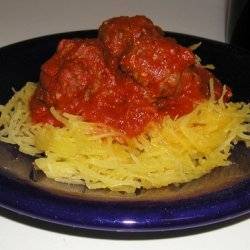 Spaghetti Squash With Meatballs and Cabernet Marinara Sauce recipe