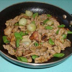 Pork and Mushroom Coriander Stir Fry recipe
