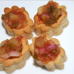 Chicken Vol-Au-Vents With Sweet and Sour Salsa recipe