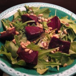 Roasted Beets With Toasted Pine Nuts and Arugula recipe