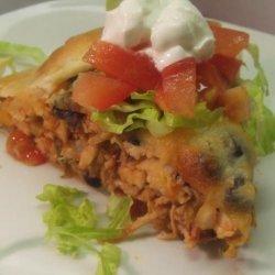V's Southwestern Chicken Flat Pie recipe