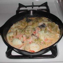 Spicy Shrimp and Scallop Alfredo recipe