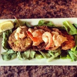 Fried Green Tomatoes With Crawfish or Shrimp Remoulade recipe