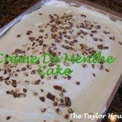 Creme De Menthe Cake recipe