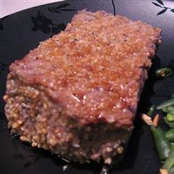Peanut Sesame Rib-Eye Steak recipe