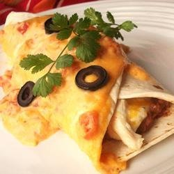 Mild Cheesy Chicken Enchiladas recipe