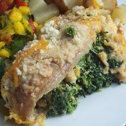 Aunt Carol's Spinach and Fish Bake recipe