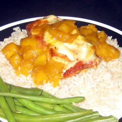 Salmon with Mango and Brie recipe