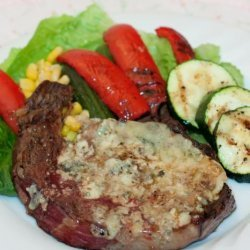 Blue Cheese Topped Grilled Ranch Steak recipe