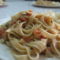 Vegan Artichoke and Tomato Alfredo recipe